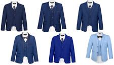SUIT LAB - Boys Formal Navy Light Dark Blue Suit | 3 Piece | Christening Wedding