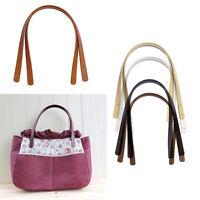 2Pcs Women PU Leather Handle Strap Replacement Handbag Purse Tote Bag DIYStrap