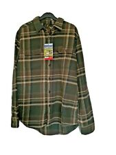 ORVIS BNWT Heavyweight Flannel Shirt Green( Tall Pine Plaid)  size M,  L, XL