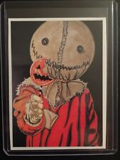 Trick Or Treat SAM Sketch Card STICKER Print Hollywood Horror Artist Tony Keaton