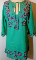 Women's Lightweight Embroidered Tunic Shirt from South Main Sz L
