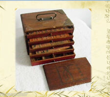 Mah Jong set in wood case - old bakelite style tiles - FREE SHIPPING