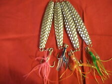 4-10oz Hammered Diamond style Jig Lure. FOR COD,STRIPER,TUNA,BLUEFISH