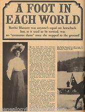 Bertha Blancett Rodeo Star + Genealogy