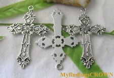 20pcs Tibetan Silver CROSS charms pendants 37x56mm FC8144