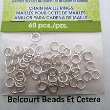 Chain Maille 3.97 mm 18GA Silver Jump Rings Artistic Wire Non Tarnish!