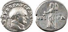 Vespasien, denier, Rome, 72, VESTA - 20