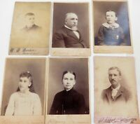 .AMERICANA. 1800s LARGE QUALITY STUDIO PHOTO'S of MEMBERS of the SAME FAMILY.
