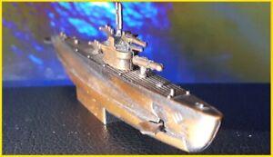 "Submarine pencil sharpener 5"" metal model of U-boat / American WWII battle toy"