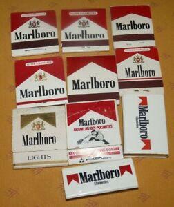 10 pochettes & boîtes d'allumettes Marlboro Cottage Hôtel Maxéville Fontenoy Gap