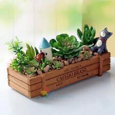 MINI Wooden Planters Herb Window Box Wooden Plant Flower Pot  DIY Indoor Garden