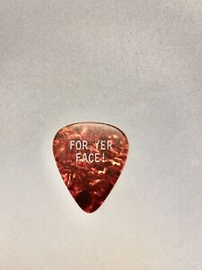Dave Murray Iron Maiden For Yer Face Guitar Pick World Slavery Tour 1984-85