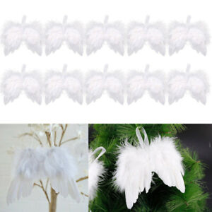 1-10 White Feather Angel Wings Hanging Decoration Baby Clothes DIY Decor Feather