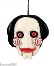 "HALLOWEEN SAW 5"" JIGSAW BILLY PUPPET HANGING LATEX HEAD DECORATION PARTY PROP"