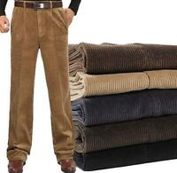 Men's corduroy Warm dress formal Trousers loose straight Casual Pants 30-46 SZ