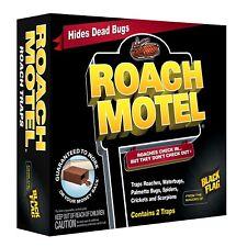 2 Traps Black Flag Roach Motels Cockroach Killer bait Glue