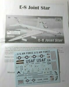 Minicraft Boeing E-8 Joint Star 1/144 Scale decal and instructions only
