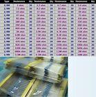 1280pcs 64 values  Metal Film Resistors Assortment Kit 1 ohm - 10M ohm