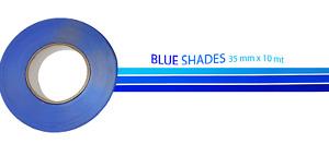 Stripe Linea di Galleggiamento Nautica Adesiva Sfumature Blu 35 mm x 10 mt