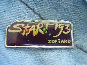 Pin Leichtathletik WM 1993 in Stuttgart Media Pin ZDF und ARD German TV Start 93