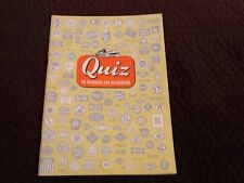 1948 Quiz Book On Railroads And Railroading Booklet