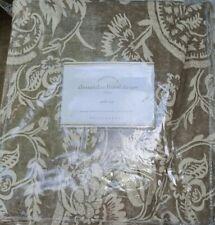 1 Pottery Barn  Alessandra Drape Charcoal Gray 96 Floral Curtain Pole Pocket