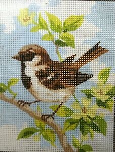 """""""Sparrow"""" Printed Needlepoint Tapestry  Canvas 3315"""
