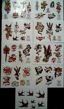 Vintage Tattoo Flash Designs. Jimmy Blackpool. 9 Sheets ! Rare.
