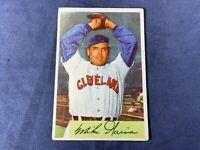 A5-74 BASEBALL CARD - MIKE GARCIA CLEVELAND INDIANS - 1954 BOWMAN - CARD #100