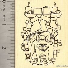 Christmas French Bulldog Rubber Stamp K14911 WM