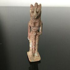 Sculpture Statue Antiquité Egyptienne Chat Lion Terre Cuite Egypte Antique