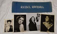 Rebel Randall Hollywood Actress Radio DJ Studio Chair Fragment Maurice Seymour