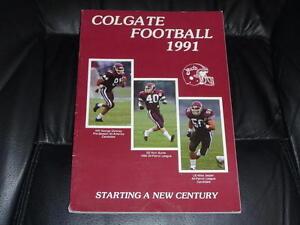 1991 COLGATE COLLEGE FOOTBALL MEDIA GUIDE EX-MINT  BOX 30