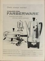 Vintage 1958 Farberware Electric Cookware Couple Kissing  Print Ad Advertisement