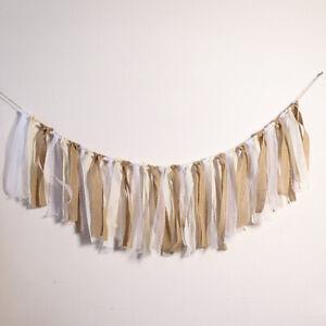 Rustic Shabby Burlap Wedding Backdrop Garland Reception Lace Party Props Decor