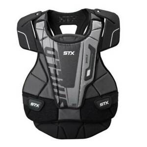 New STX Shield 300 Chest Protector Black/White/Silver Medium