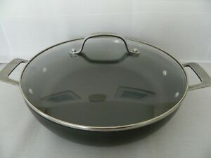 LARGE CIRCULON 30cm HARD ANODISED TOTAL NON-STICK COVERED COOKING PAN - VGC