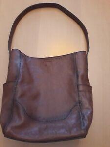 FRYE Leather Side Pocket Hobo Shoulder Handbag Purse 34DB323 Cognac MSRP $348