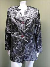 SAG HARBOR Women's Silver Floral Blazer Jacket~Size 16W