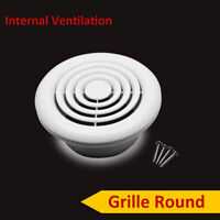 """Internal Ventilation Grille Round White 4"""" 100mm Duct Extractor fan Bathroom New"""