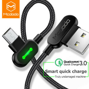 Mcdodo 3M 90 Degree Micro USB Fast Charging Cable F Samsung S6 S7 Android Phones