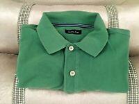 Mens DesignerPolo Short Sleeve Massimo Dutti Shirt M (int L) -100% COTTON
