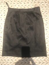 Jesire Black Satin Pencil Skirt Size 10