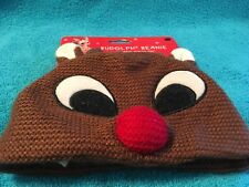 Dandee Rudolph The Red Nosed Reindeer Knitted Beanie Infant Toddler
