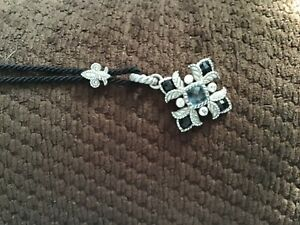 Judith Ripka Sterling Silver CZ Pendent Necklace Beautiful!