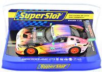 "Scalextric / Super Slot ""Sun"" Mercedes AMG GT3 DPR W/ Lights 1/32 Slot Car C3941"