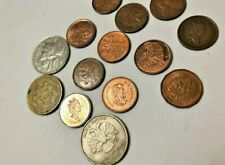 Old coins a total of cents and other coins 16 vintage pieces