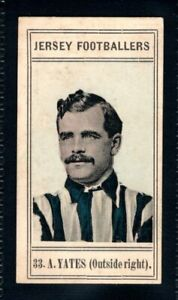 RARE CIGARETTE COMPANY OF JERSEY JERSEY FOOTBALLERS 1910 A. YATES - GUERNSEY ATH