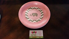 Elephant baby shower plates and cups in pink