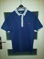 Fred Perry (Size S-M) Slim Fit Polo Shirt Bitton Dark Blue Punk Oi Ska Mod